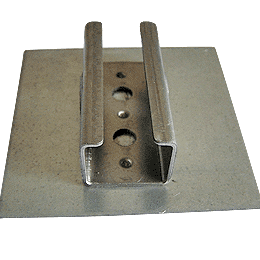 U type hinge welding on control panels